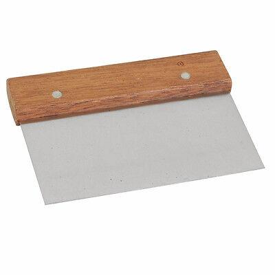 Tw - Sltwds006 - 6 X 4 Dough Scraper Wood Handle Lot Of 12