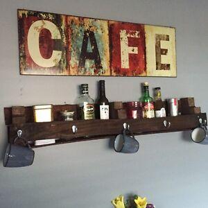 Rustic Hand Crafted Shelf - Farm Feel