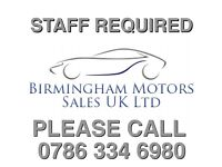 FULL TIME STAFF REQUIRED CAR SALES PITCH
