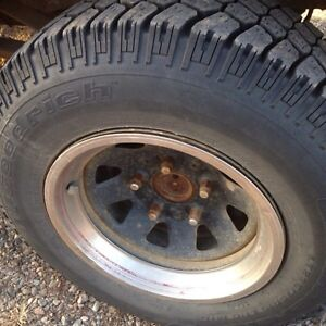 Spare tires + rims for 1967-1996 Ford trucks