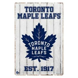Toronto Maple Leafs Established PVC Wood Fence Design Sign (New) Alberta Preview