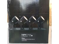 Garden lighting (2 sets of 4 lights)