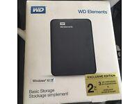 WD Elements 2TB portable NEW