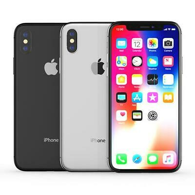 Apple iPhone X 64GB 256GB Unlocked Smartphone All Colours Space Grey Silver UK