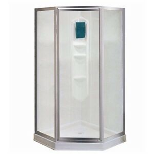 Shower base and glass doors