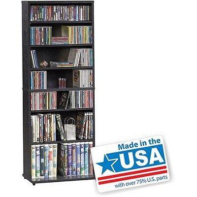 Multimedia Storage Tower Cabinet CD Wall Rack DVD Bookshelf Organizer Media NEW!