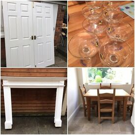 Doors table fire surround glasses