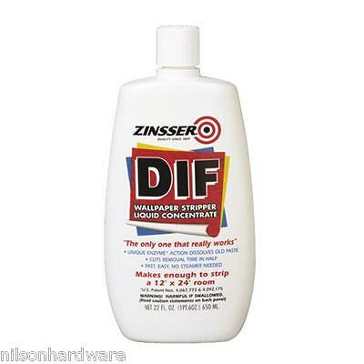 12 Pk 22 Oz Zinsser DIF Liquid Concentrate Ready To Use Wallpaper Stripper 2422