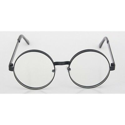Men CLASSIC VINTAGE RETRO Style Clear Lens EYE GLASSES Round Black Fashion Frame