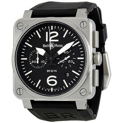 Bell and Ross Aviation Black Dial Chronograph Automatic 42MM Mens Watch