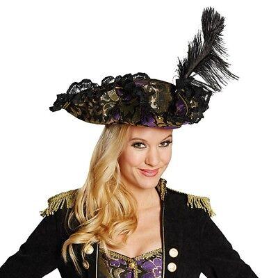 atenhut Edelpirat lila Piratin Erwachsene Karneval Fasching N (Piraten Kostüm Erwachsene)