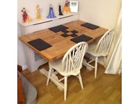 Stunning farmhouse table & chairs