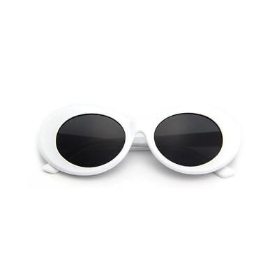 White Clout Goggles Round Oval 80s Sunglasses Vintage Kurt Cobain Hypebeast  ()