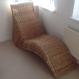 IKEA rattan lounger/chair