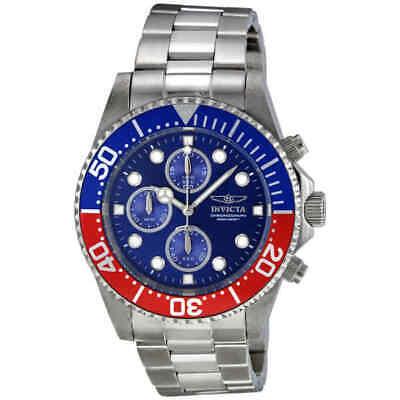 Invicta Pro Diver Chronograph Blue Dial Pepsi Bezel Men
