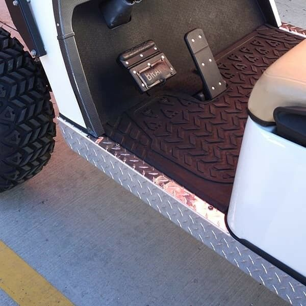 EZGO TXT Golf Cart Diamond Plate Rocker Panels Set (1996+)
