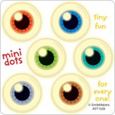 60 Glow In The Dark Eyeball Mini Stickers Party Favors Teacher Supply Halloween - Party Glow In The Dark