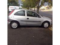 02 silver Vauxhall corsa