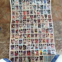Uncut 92 sheets of hockey cards