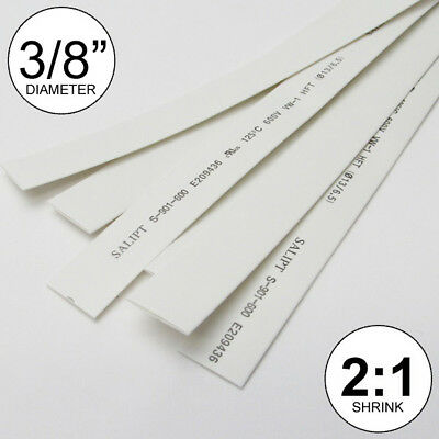 38 Id White Heat Shrink Tube 21 Ratio Wrap 6x9 4 Ft Inchfeetto 10mm