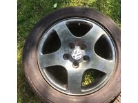 """Full set of 4 Audi original 16"""" alloys fully refurbished with new tyres"""