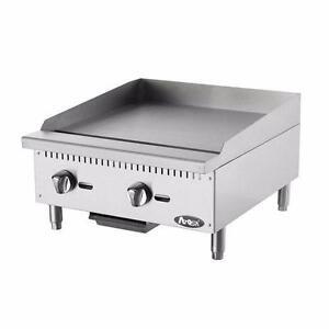"""Gas Griddle 24"""" Brand New Grill Natural Gas or Propane Atosa"""