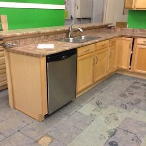 Complete kitchen cabinets uppers  and lowers