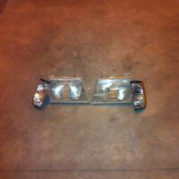 Head light and signal set for ford econoline