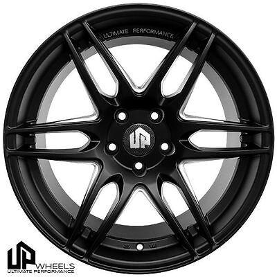 "19"" ULTIMATE PERFORMANCE UP620 BLACK STAGGERED WHEELS ET25 FIT JDM JAPANESE CAR"