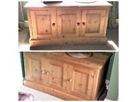 2 x solid pine cupboards £80 each.
