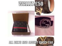 Nearly new belts n wallets genuine