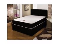 🌷💚🌷 SPECIAL OFFER 🌷💚🌷 DOUBLE DIVAN BED BASE WITH DIFFERENT TYPES OF MATTRESSES
