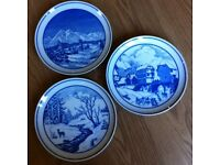 COLLECTABLE PLATES x 3