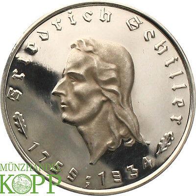 AA2384) J.359 DRITTES REICH 5 Reichsmark 1934 F Schiller PP / PROOF
