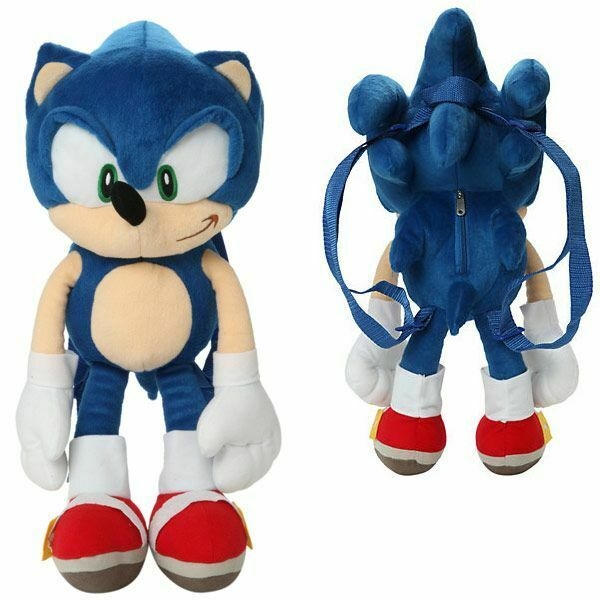 Sonic The Hedgehog Large Size Kids Plush Toy With Secret Zipper Pocket 17in For Sale Online Ebay