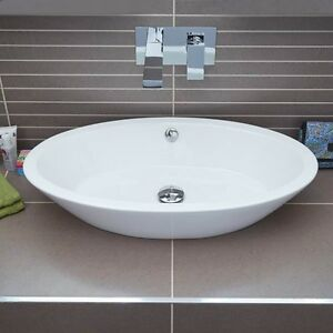 bathroom sink wash basin countertop sanitary ware oval