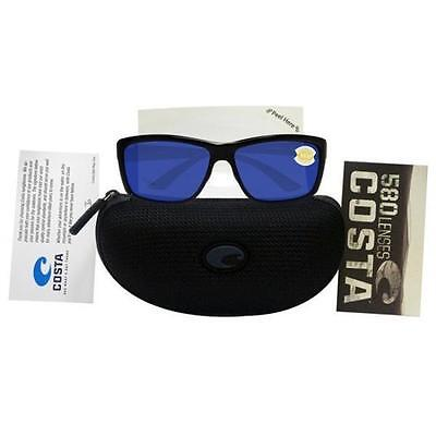 Costa Del Mar AA11OBM Mag Bay Unisex Black Frame Blue Lens Polarized Sunglasses