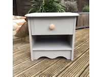 Pretty Wooden Painted Bedside Table