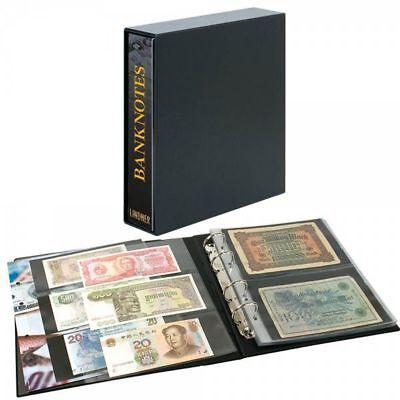 Lindner 3537E PUBLICA M Banknotenalbum mit 20 beidseitig bestückbaren Folienblät