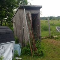 small storage shed/ bus shelter