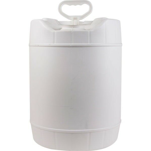 5 Gallon HDPE Stackable Water Container Round White Plastic