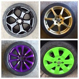 Alloy wheel refurbishment and valeting