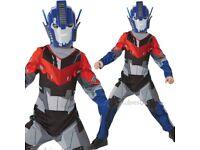 Optimus prime transformers kids costume 5-6 brand new never worn