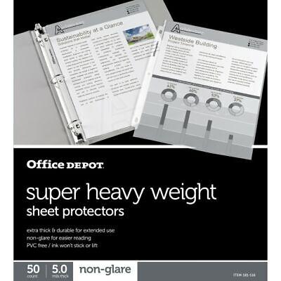 Office Depot Brand Super Heavyweight Sheet Protectors 8-12 X 11 Clear Non