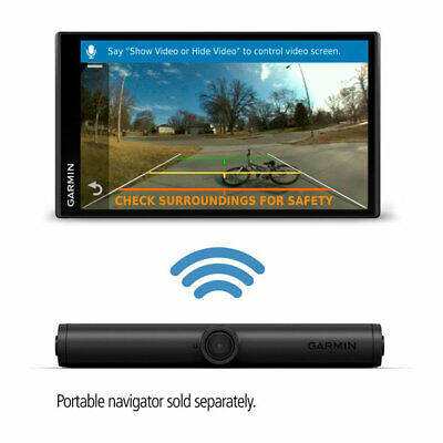 Garmin BC 40 Wireless Backup Camera With License Plate Mount 160° Field Of View Wireless License Plate Backup