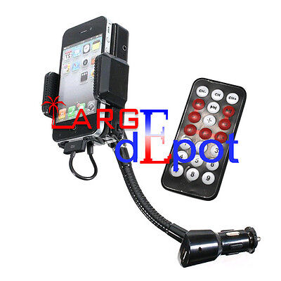 FM Transmitter+Car Charger+Remote for iPhone 4S 4 4G 3GS 3G iPod Touch  on Rummage