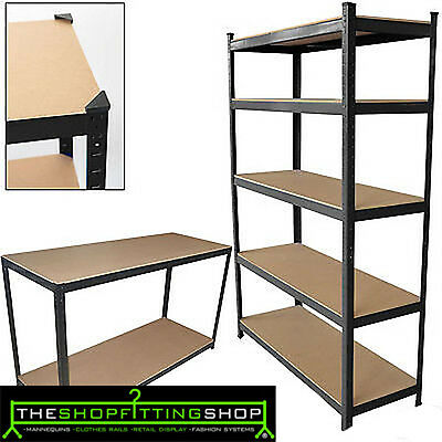 5Tier Shelving rack Heavy Duty Boltless Storage Garage Greenhouse Workshop