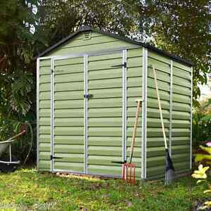 6x5 Plastic Garden Shed Skylight Storage Sheds Palram