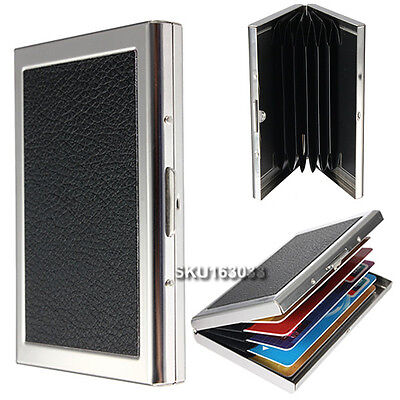 porte carte de cr dit aluminium portefeuille strass rigide security credit card ebay. Black Bedroom Furniture Sets. Home Design Ideas