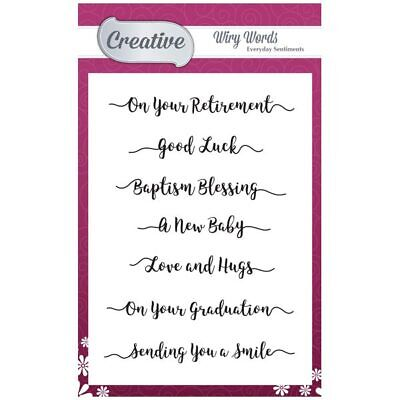 Creative A6 Stamp Set Everyday Sentiments Set of 7 | Wiry Words Collection